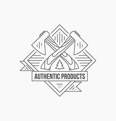 Lumberjack logo vector
