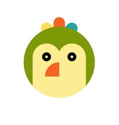 parrot cartoon animal head vector image vector image