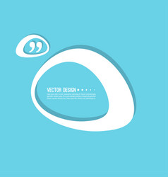 Quotation mark speech bubble vector