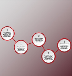 red infographics vector image vector image