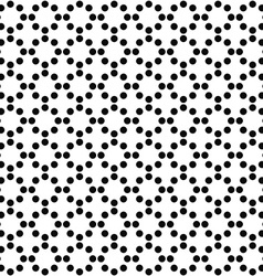 Repeating monochrome circle pattern background vector