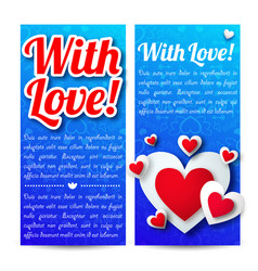 romantic greeting vertical banners vector image vector image