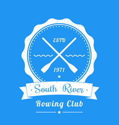 Rowing club vintage logo emblem sign vector