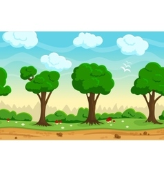 Seamless cartoon game landscape vector image