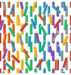 Seamless pattern of colored pencils vector image