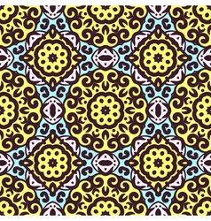 seamless pattern with bright ornament Tile in vector image vector image