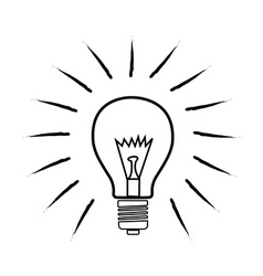 sketchy bulb vector image vector image