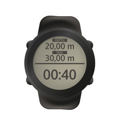 Sport watch for diving dive computer vector