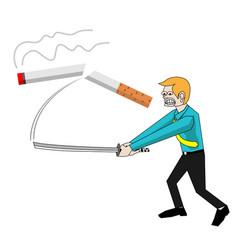 stop smoke concept vector image vector image