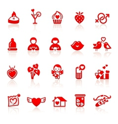 Set valentines day vector