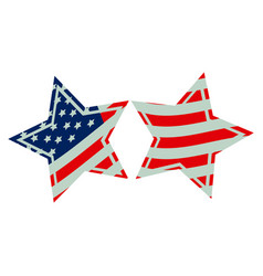 Stars with stars and stripes icon vector