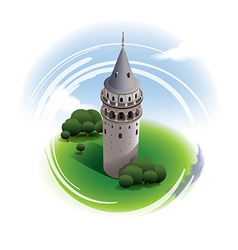Galata tower istanbul vector