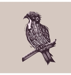 Bird in hand drawn style vector