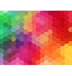 abstract geometric background hexagon vector image