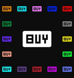 Buy online buying dollar usd icon sign lots of vector
