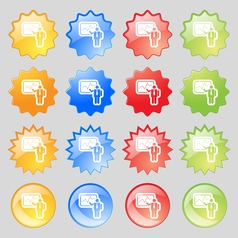 Businessman making report icon sign big set of 16 vector