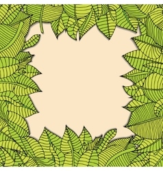 Leaves frame vector
