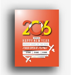 New year party flyer vector