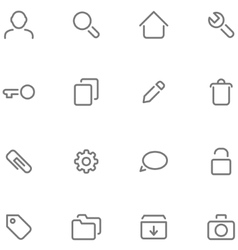 Set simple icons vector