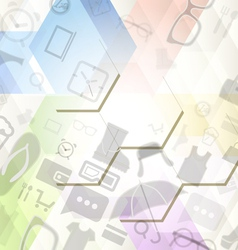 Abstract background with shopping icons vector image