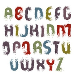 acrylic alphabet capital letters set hand-drawn vector image vector image