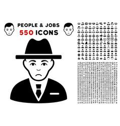 Agent icon with bonus vector