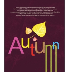 Autumn print background vector image