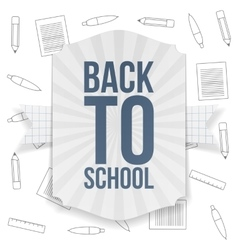 Back to School paper Badge vector image