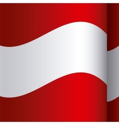 background color with waving flag of austria vector image