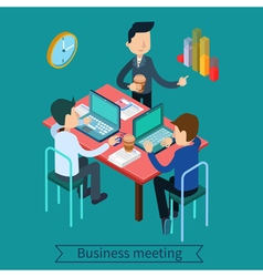 Business meeting and teamworking vector