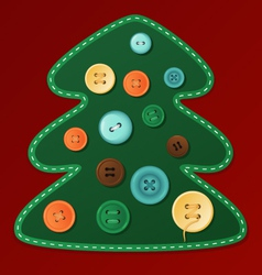 Button christmas tree vector
