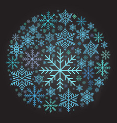 Christmas ball made from snowflakes vector