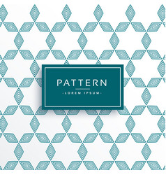 Clean geometric lines pattern design vector