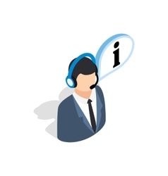 Consultant on phone icon isometric 3d style vector image