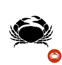 Crab black silhouette vector image vector image