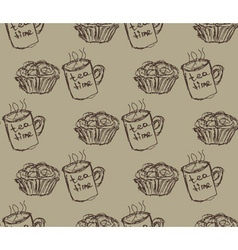 eat meal breakfast set seamless pattern vector image vector image
