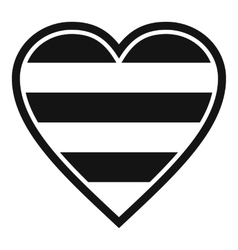 Heart lgbt icon simple style vector