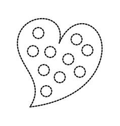 heart love romance passion dots decoration image vector image vector image
