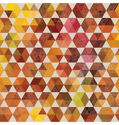 hexagon background with triangles vector image vector image