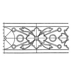 Indian enamel border rosette band is a heavy vector