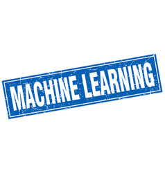 Machine learning square stamp vector
