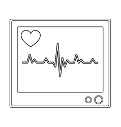 Medical monitormedicine single icon in black vector