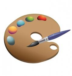 palette paintbrush vector image vector image