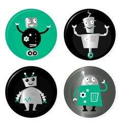 retro robots collection vector image vector image