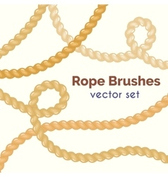Rope brushes set decorative knots vector