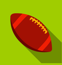 Rugby ball icon flate single sport icon from the vector
