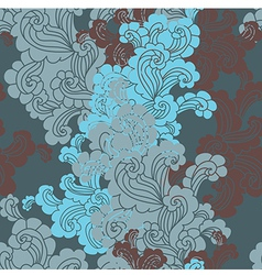 seamless background with swirls vector image vector image