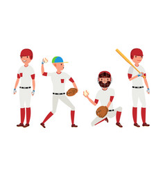sport baseball player classic uniform vector image