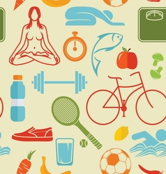 sport healthy life patern1 vector image