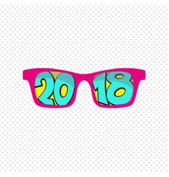 Sunglasses reflection 2018 vector